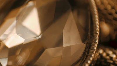 Sparkling golden jewelry