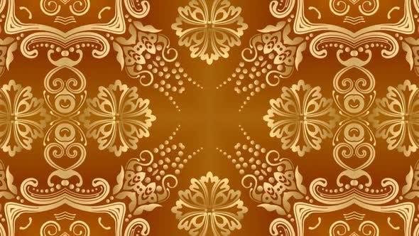Gold Arabic Kaleidoscope