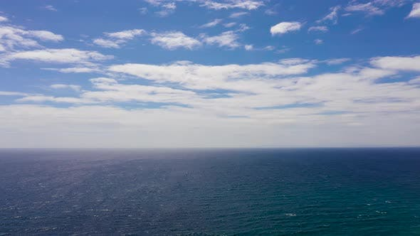 Thumbnail for Seascape, Aerial View, Blue Sea and Sky with Clouds