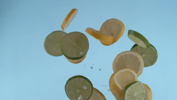 Thumbnail for Sliced lemon and lime in slow motion, shot with Phantom Flex 4K at 1000 frames per second