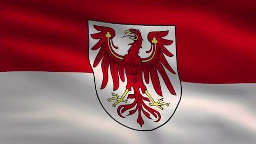 German State Flag Brandenburg 4K
