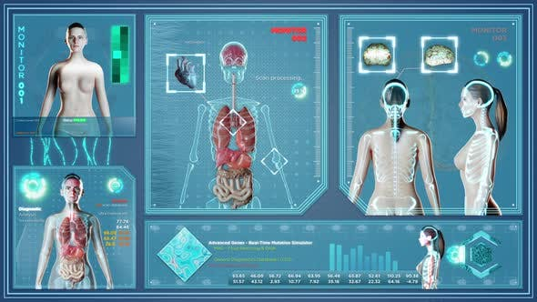 Futuristic X Ray on Female Body