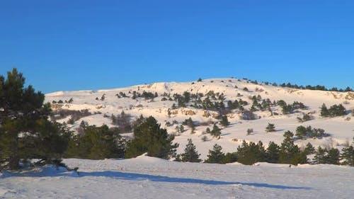 Bergplateau im Winter