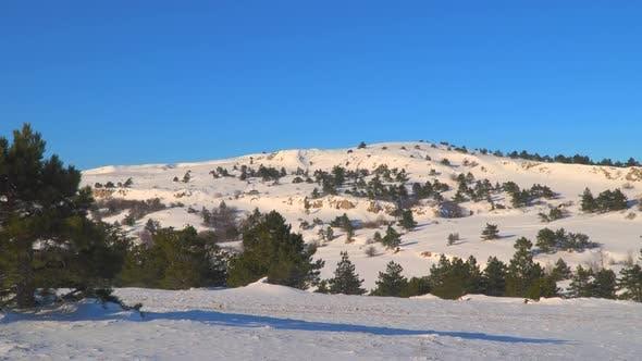 Mountain Plateau in Winter