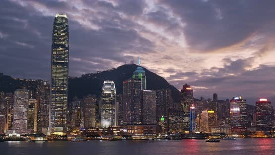 Cover Image for Hong Kong skyline at sunset
