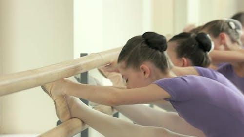 Kids Doing Ballet Exercise at Studio