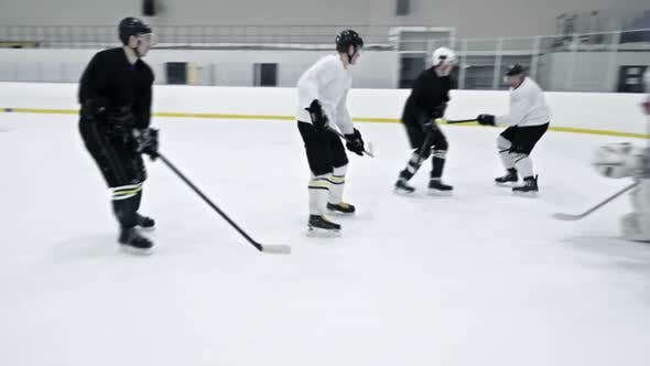 Thumbnail for Ice Hockey Team Practicing in Rink