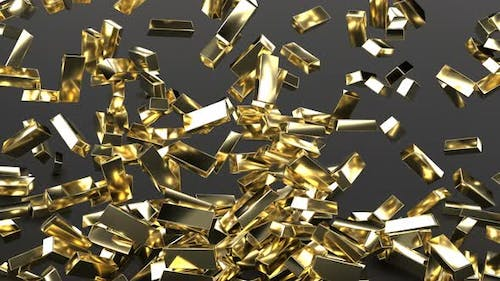 3d Gold Bars Concept Finance Business Investment Success Expensive Treasures Explode