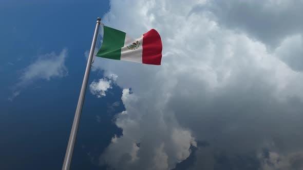 Mexico Flag Waving 4K