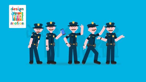 D&M Charakter-Set: Polizeibeamter