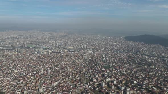 Aerial Suburban Houses View