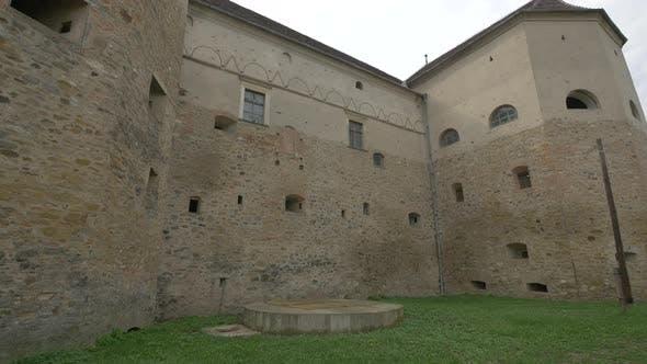 Exterior wall of Fagaras fortress