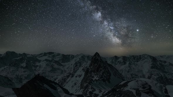 Milky Way Galaxy in Alps Mountains