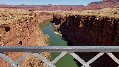 The view of the Colorado River from Navajo Bridge