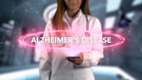 Thumbnail for Female Doctor Hologram Word Illness Alzheimer's Disease