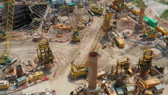 Cover Image for Top down view of construction site in Hong Kong