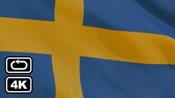 Cover Image for Sweden Flag 4K Seamless Loop