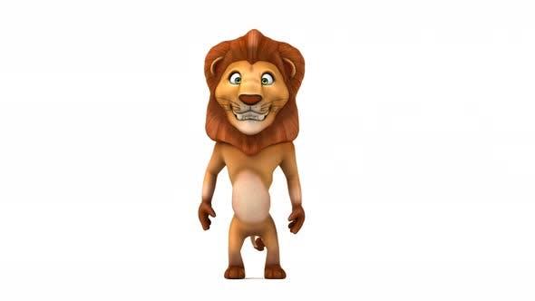 Thumbnail for Fun lion walking
