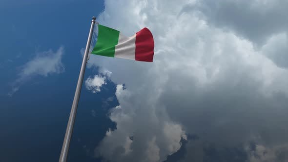 Italy Flag Waving 4K