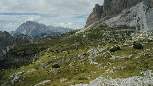 Tre Cime Di Lavaredo Aerial View of Plateau