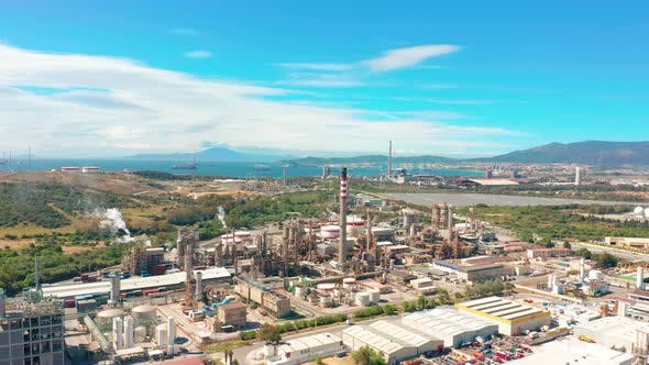Thumbnail for Aerial View. Oil Refinery, Oil Industry