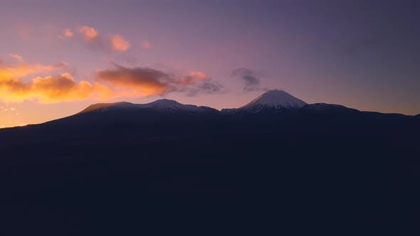 Thumbnail for Volcano during sunrise