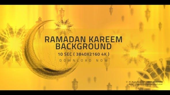 Ramadan Kareem and Eid Saeed Islamic 4K Background