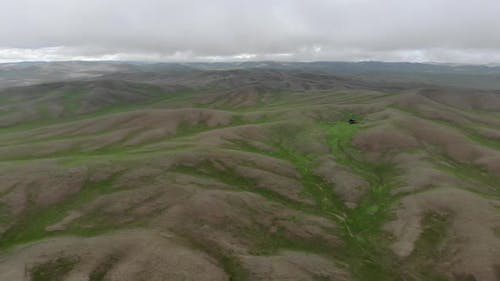 Treeless Empty Low Hills