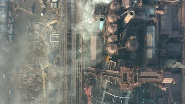 Thumbnail for Aerial View. The Metallurgical Plant. Plant for Metal Fabrication. The View From the Top of the