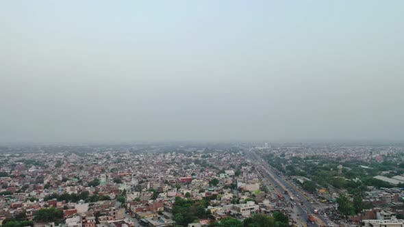 Thumbnail for Side Moving Aerial Shot of A Highway in Mathura , India