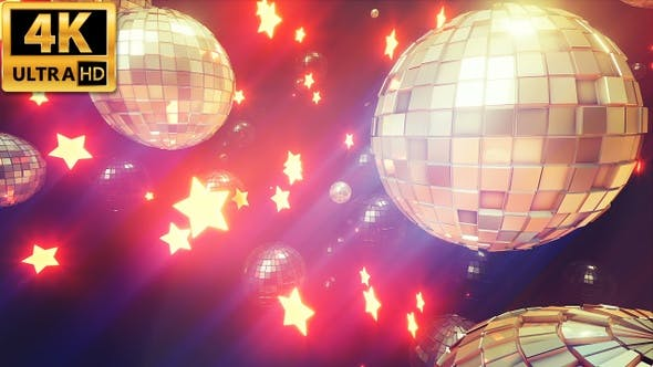 Thumbnail for Stars And Disco Balls 4k
