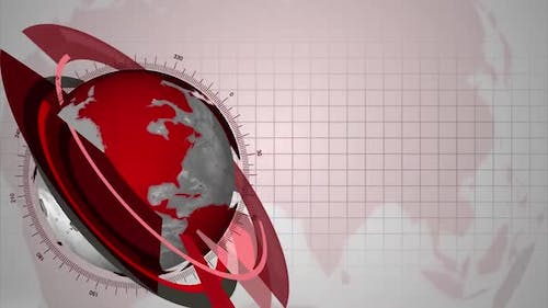 World News Red Globe For News Intro