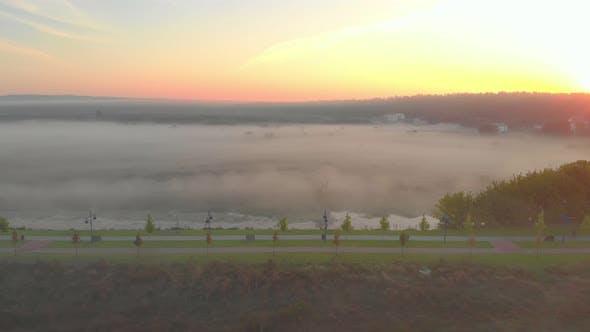 Fog River Dawn Park Aerial