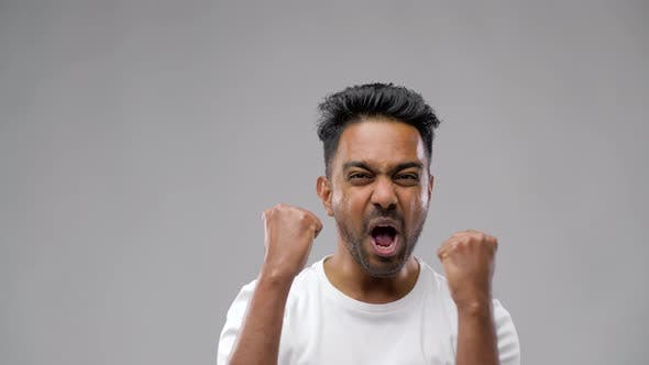 Thumbnail for Happy Indian Man Celebrating Victory 19
