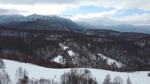 Thumbnail for Aerial Shot Of Mountains Winter Landscape  - 3 Clips