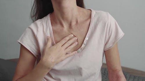 Allergic Dermatitis on the Neck