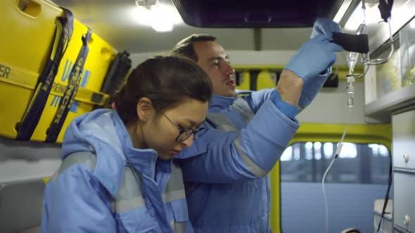 Thumbnail for Paramedics Posing inside Ambulance