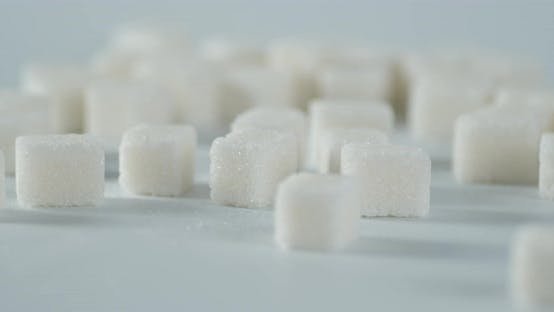 Sugar Cubes on the Table Slowly Rotate