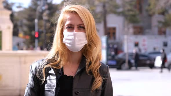Masked Girl Looking