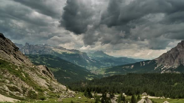 Thumbnail for Clouds Move Over the Dolomites