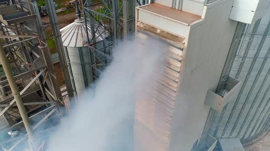 Thumbnail for Thick smoke from factory. Chemical plant outdoors.