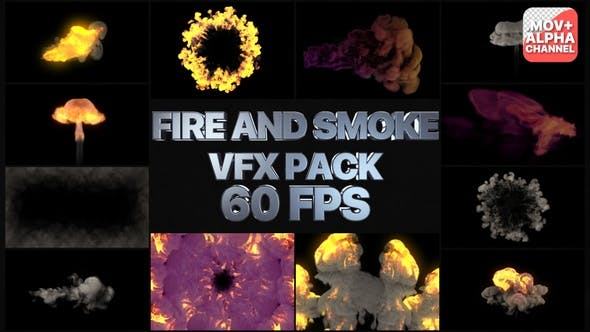 Fire And Smoke VFX Pack | Motion Graphics