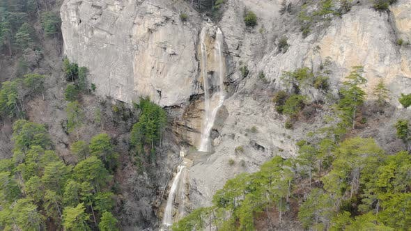 Aerial View of Waterfall