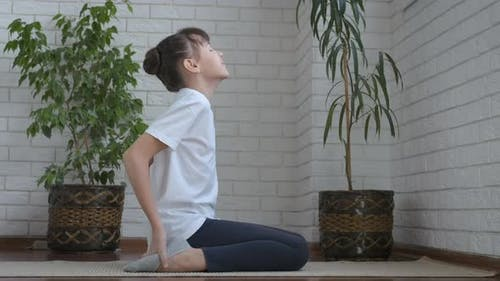 Yoga. Camel Pose. Yoga for the Spine.