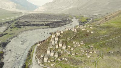 Aerial View of City of Dead North Ossetia