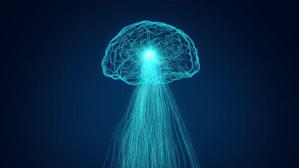 Thumbnail for 4K Neuronale Netzwerk Ai Technologie Zukunft Daten rotierenden Gehirn