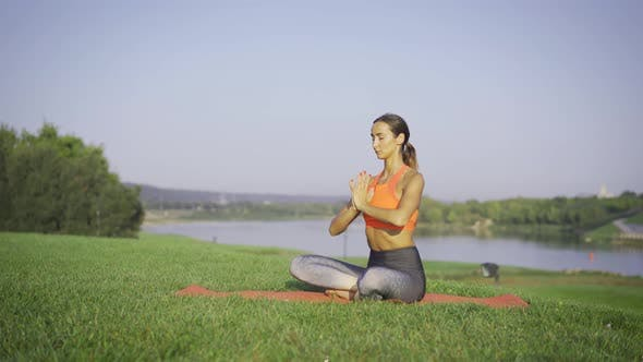 Calm And Peaceful Meditation Outdoor In Nature