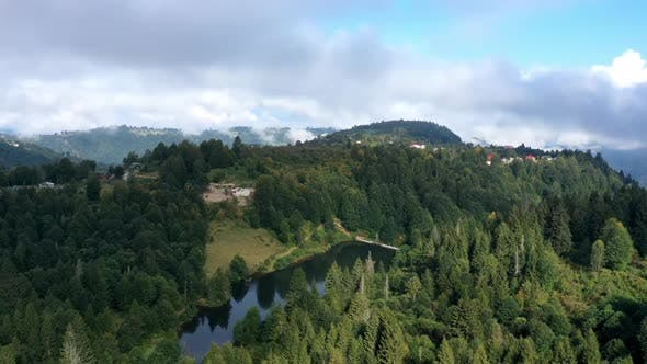 Thumbnail for Trabzon Village Mountains Forest And Cloud Shadows Aerial Hyperlapse 3