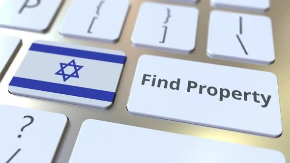 Find Property Text and Flag of Israel on the Keyboard
