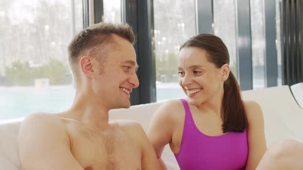 Thumbnail for Portrait Of Loving Couple By Pool